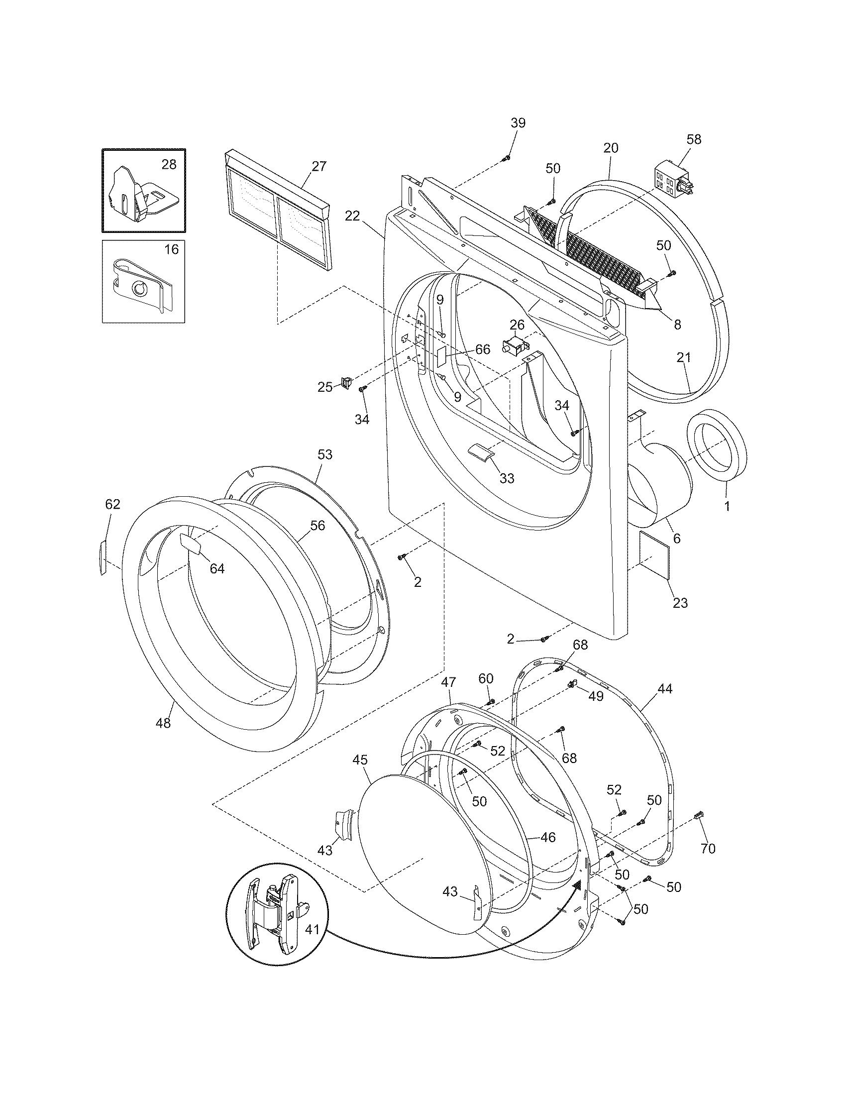 refrigerators parts  dryer parts