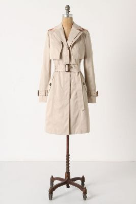 Anthropologie Glowing Horizons Trench Coat