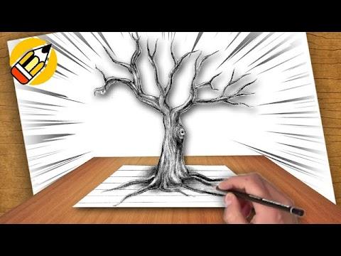 رسمة شجرة بدون الاوارق