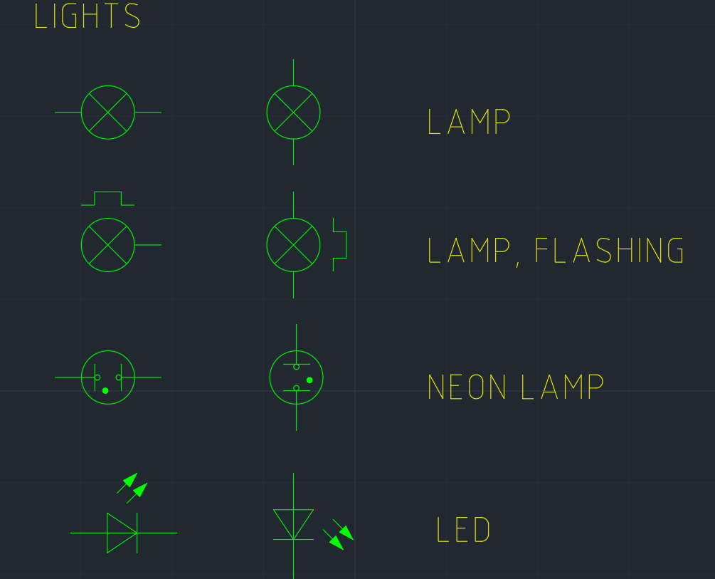 LIGHT SYMBOL CAD Block And Typical Drawing