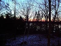 Sunset over Lake Woebegone last night