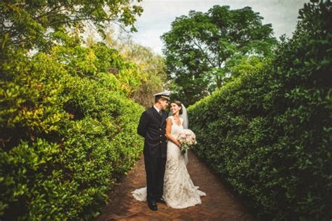 Charlotte Military Wedding at Daniel Stowe Botanical
