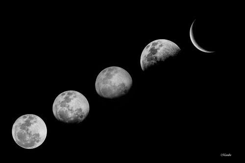 Fases lunares en proceso by Alejandro Bonilla