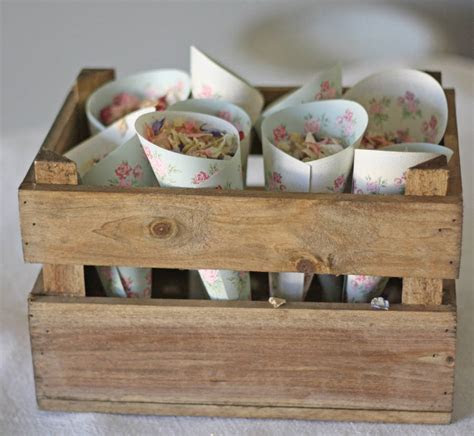wooden crate box wedding centrepiece by the wedding of my