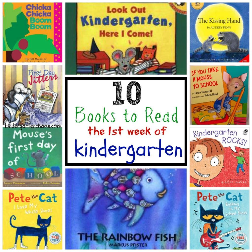 10 Best Books to Read the 1st Week of Kindergarten