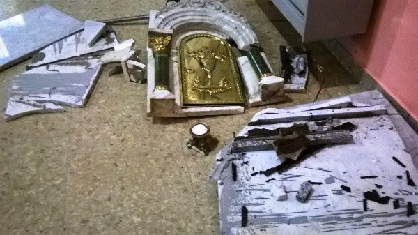 Santa Rosa | Destrozos en la capilla del barrio Butaló