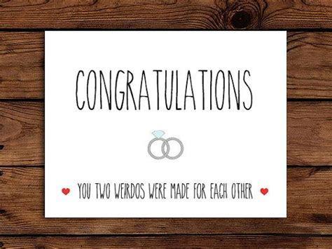 Funny Wedding Card Printable Congratulations Card
