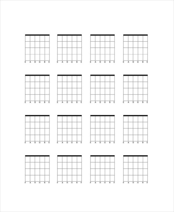 Blank Guitar Chord Chart Template - 5+ Free PDF Documents Download ...