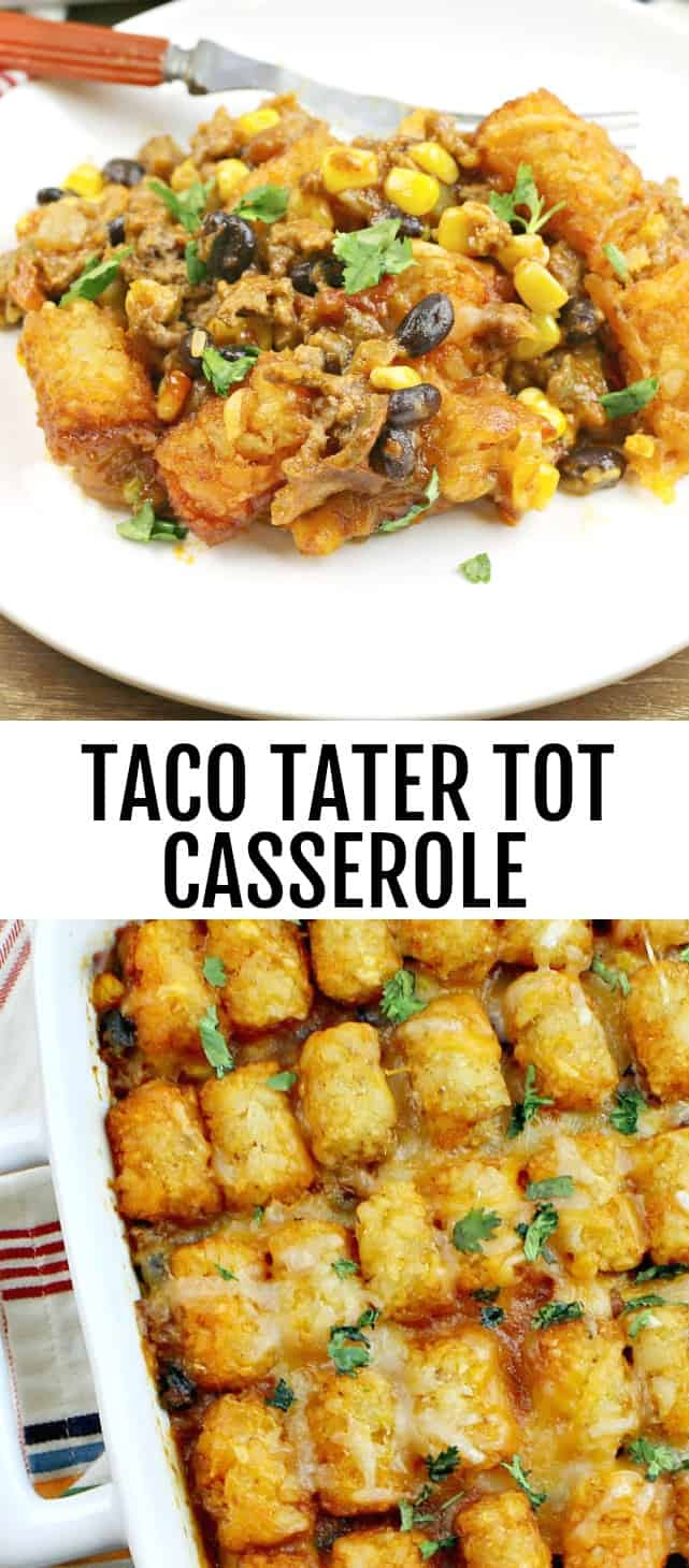 Taco Tater To Casserole {A Quick and Easy Weeknight One ...