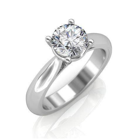 0.30 carat 18K White Gold   Classic Engagement Ring