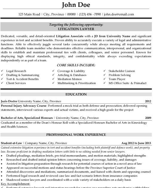 sample general counsel resume pdf  best resume examples