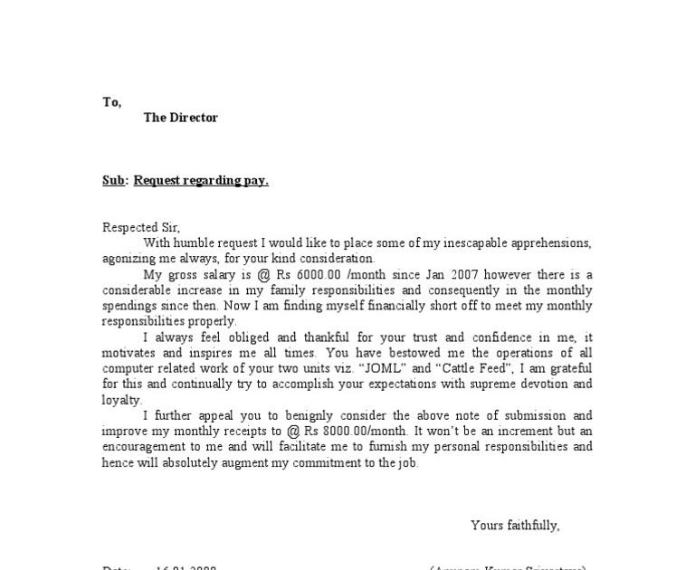 adjustment letter sample doc
