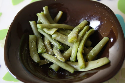 green beans and sea salt
