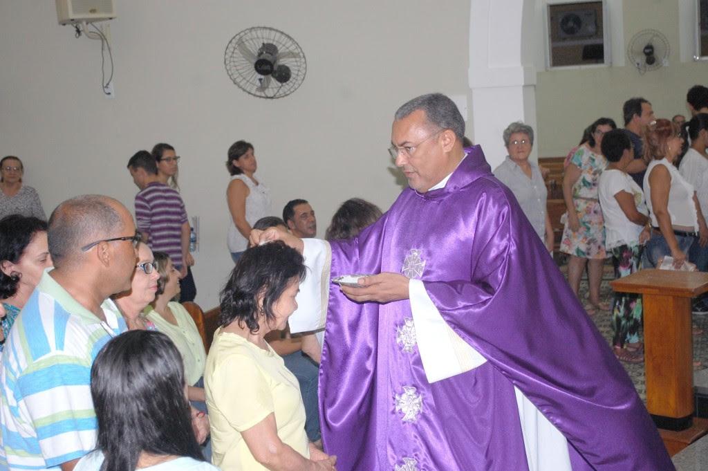 Padre José Tadeu na celebração da Missa das Cinzas, na Matriz de São José de Caicó – Fotos: Paulo Júnior