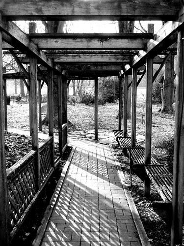 latticed walkway
