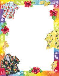 Blank Hawaiian Party Invitations