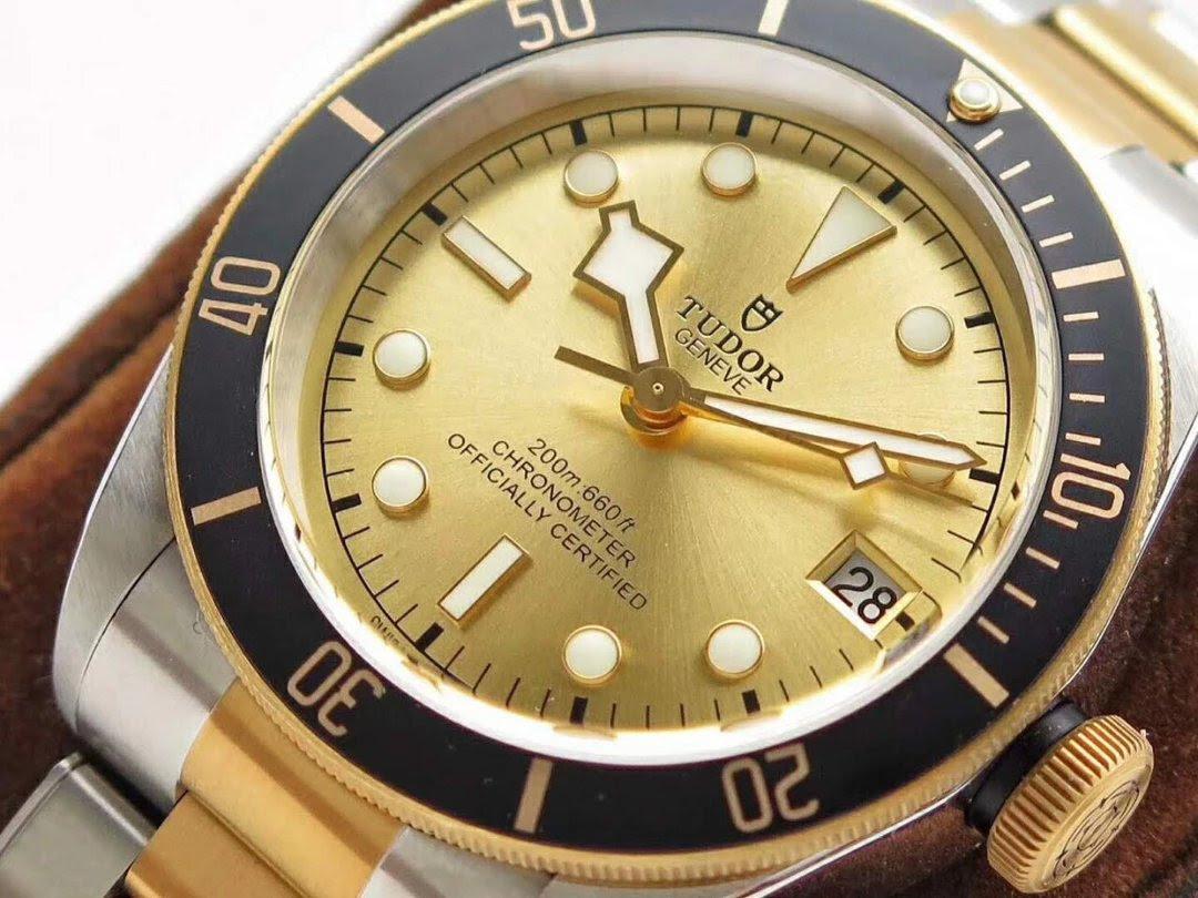 Replica Tudor Yellow Gold Two Tone Style
