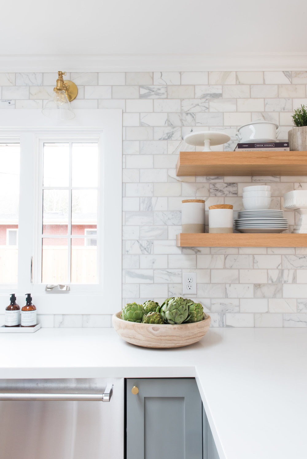 Make Your Kitchen Feel Larger With Open Shelves Studio Mcgee