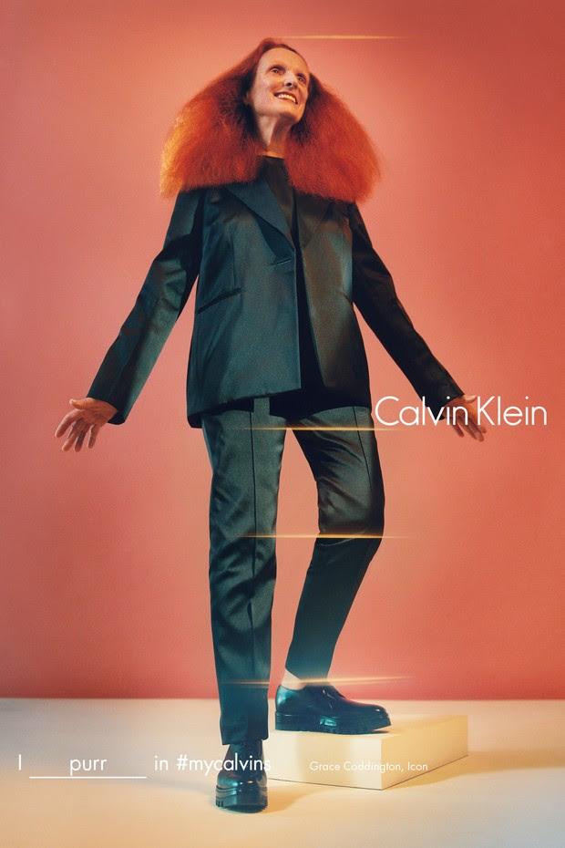 Grace Coddington para Calvin Klein (Foto: Divulgação)