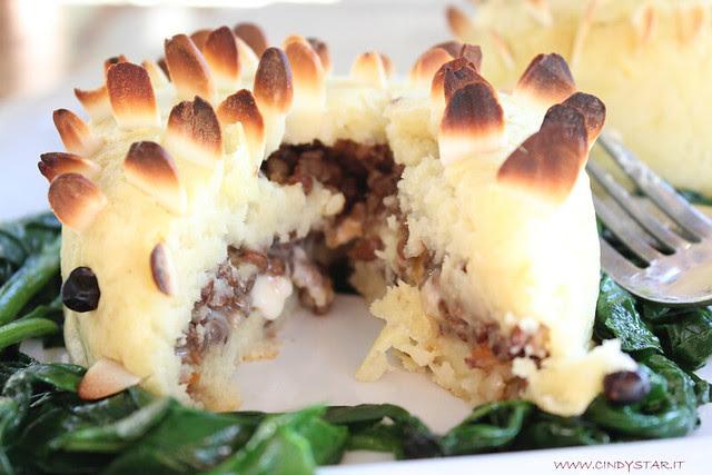 ricci di patate con gorgonzola e lenticchie