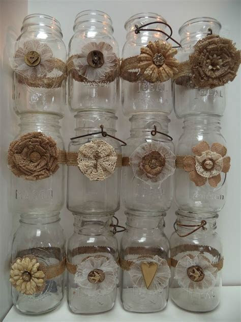 12 Mason Jar Wedding 50th Anniversary Gold Decorations