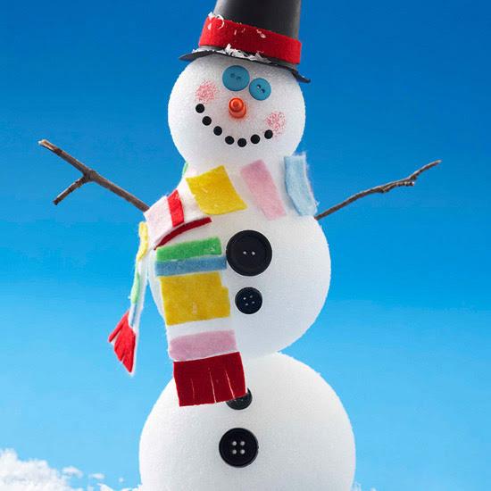 Frosty Foam Snowman Friend