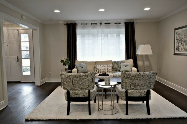 Decorating rooms with dark floors and gray walls | The ...