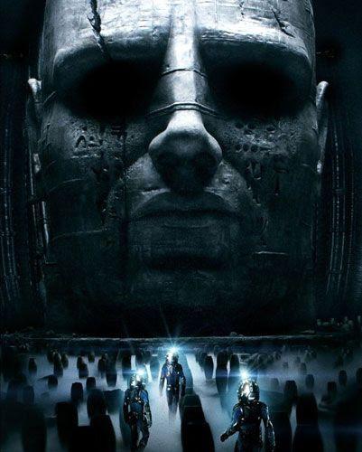 A promo pic for Ridley Scott's ALIEN prequel, PROMETHEUS.