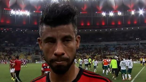 Léo Moura Flamengo León  Libertadores (Foto: Reprodução SporTV)
