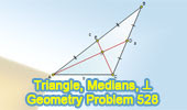 Problem 528: Triangle, Medians, Perpendicular, Measurement.