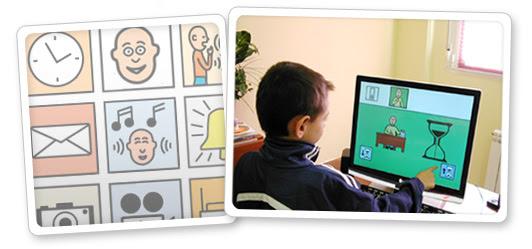 Niño utilizando las aplicaciones del proyecto Azahar