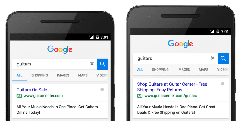 google expanded text ads go live