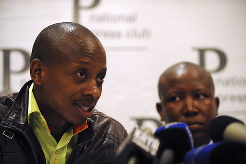 Andile Lungisa, Vice-President of the African National Congress Youth League in the Republic of South Africa at a press briefing in Pretoria. Lungisa recently wrote an article on the political situation in Haiti. by Pan-African News Wire File Photos