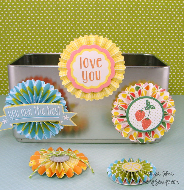 Lawn Fawn Rosette Magnets