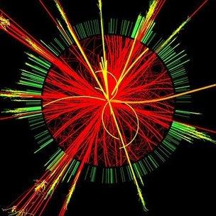 Evento de colisão no LHC