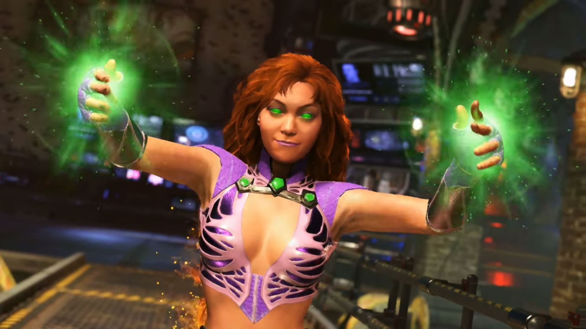 Starfire 'is gonna be a hot one' in Injustice 2 screenshot