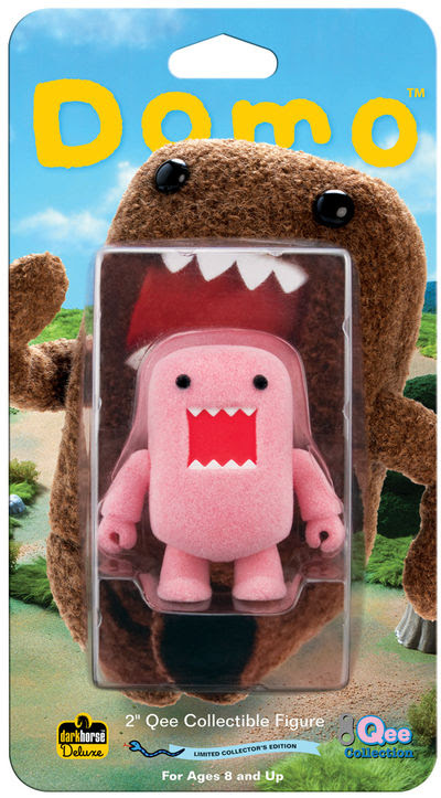 "Domo 2"" Qee Flocked Pink Figure"
