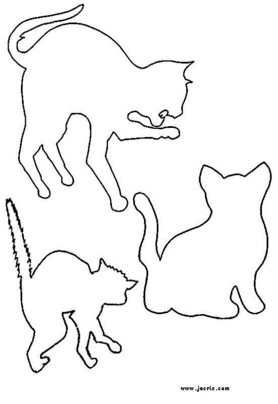 Actividades Manuales De Patrón Estarcido De Gato Eshellokidscom