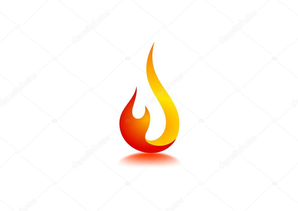 Fire flame Logo — Stock Vector © breee #59840599