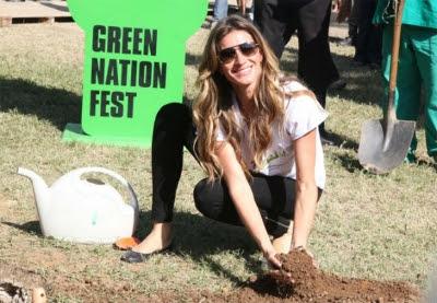 Gisele Bündchen, embaixadora da boa vontade da ONU, visita a Green Nation Fest, no Rio. Foto: Sebástian Freire/Flickr.