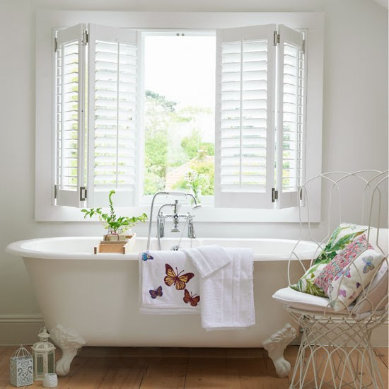 Indulgent white bathroom   White bathroom decorating   Neutral bathroom scheme   Image   Housetohome