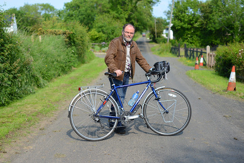 Malachi O'Doherty and His Touring Bike
