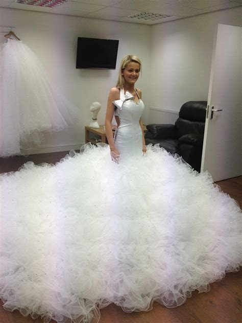 "Wow! You could get lost in this gown!   ""Here Comes The"