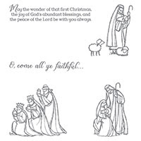 All Ye Faithful Clear-Mount Stamp Set by Stampin' Up!