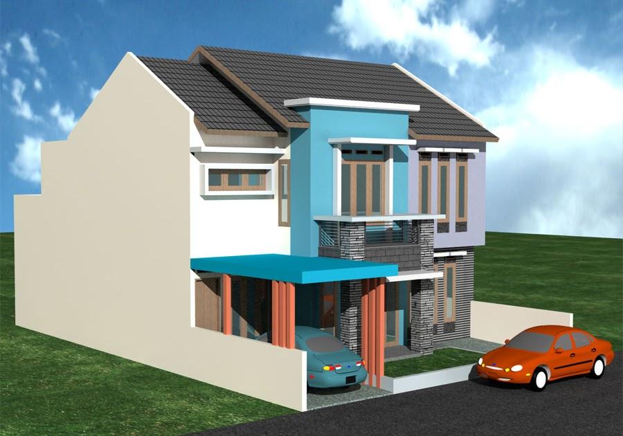 Cat Rumah Minimalis Warna Biru Muda - Sekitar Rumah