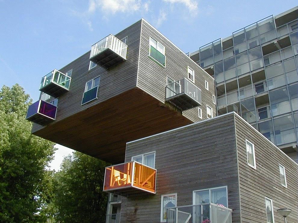 Социальные квартиры в этом доме в Амстердаме