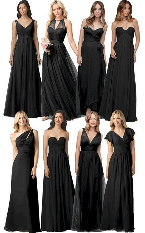 Black Bridesmaid Dress Ideas ? OOSILE