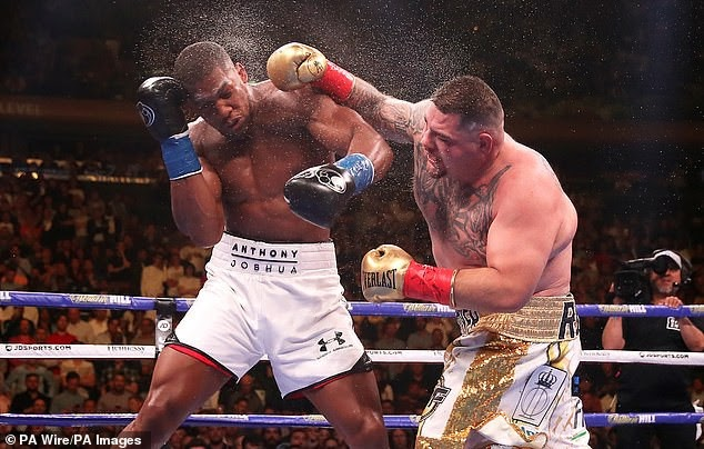 Anthony Joshua has been training for a month with chubby fighters like Andy Ruiz - Joshua's manager, Eddie Hearn reveals