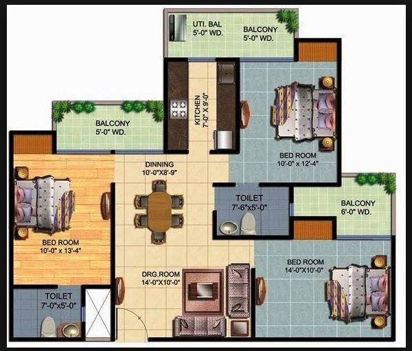 Gambar Rumah Minimalis 3 Kamar Tidur Type 36