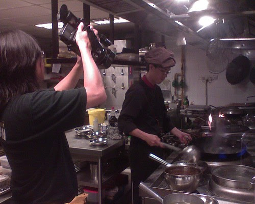 Head chef Chew in action